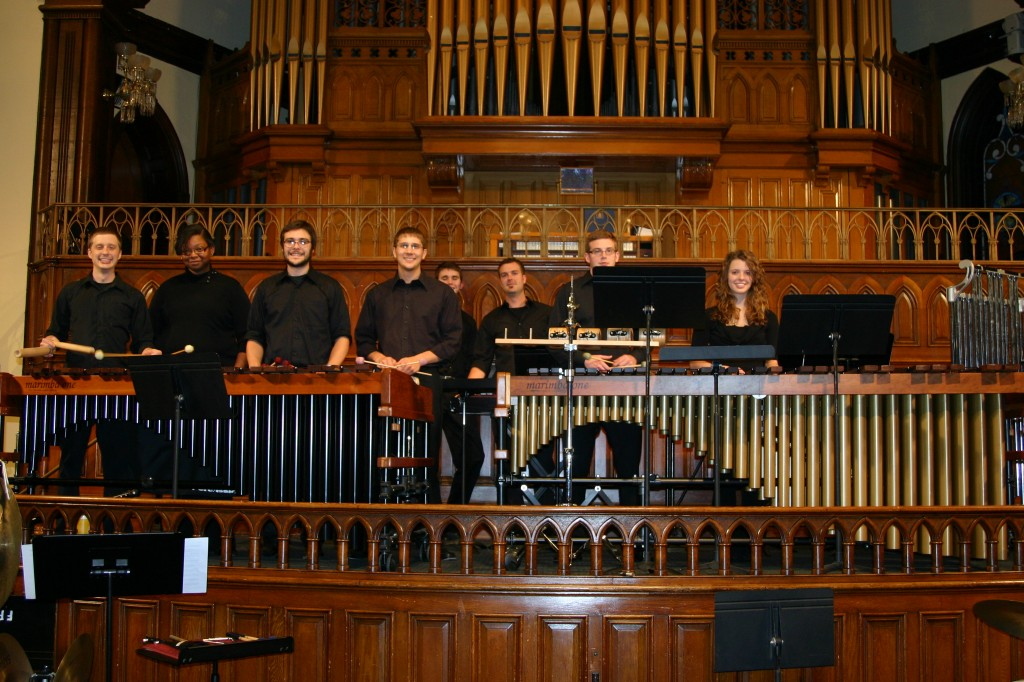 UNCC Perc ens . at Charlotte Chamber series