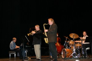 Harold Danko Clay, Rich Perry Tom Hildreth and Rick play the concert