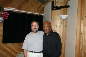 Rick and Ed Thigpen in the Studio