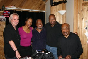 Scott Sawyer, Lois Dawson Willie,John Brown and Ed Thigpen in the Studio